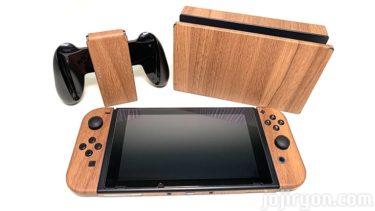 【Nintendo Switch】木目調にしたらオシャレになった【スキンシール】